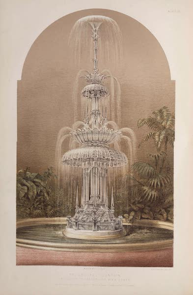 The Industrial Arts of the Nineteenth Century Vol. 1 - The Crystal Fountain by F. & C. Osler, London & Birmingham (1851)