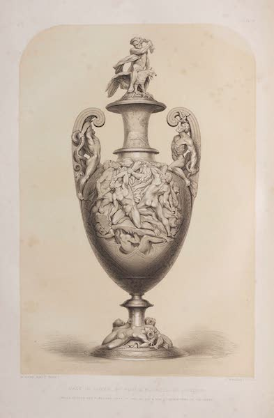 The Industrial Arts of the Nineteenth Century Vol. 1 - Vase in Silver by Hunt and Roskell, London (1851)