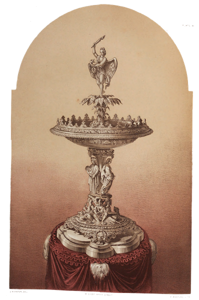 The Industrial Arts of the Nineteenth Century Vol. 1 - Centre-piece in Silver by Wagner, Berlin (1851)