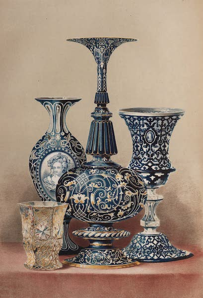 The Industrial Arts of the Nineteenth Century Vol. 1 - Group of Glass by Count Harrach, Bohemia (1851)