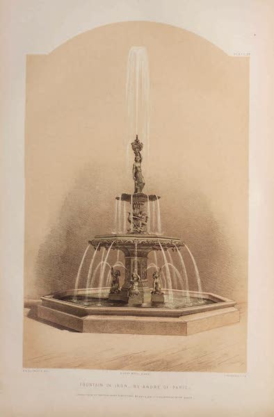 The Industrial Arts of the Nineteenth Century Vol. 1 - Fountain in Iron by Andre, Paris (1851)