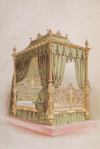 The Industrial Arts of the Nineteenth Century Vol. 1 - Bedstead by Winfield, Birmingham (1851)