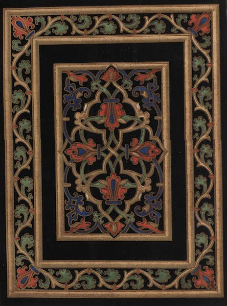 The Industrial Arts of the Nineteenth Century Vol. 1 - Embroidered Book-cover by French, Bolton, Lancashire (1851)