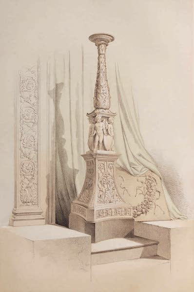 The Industrial Arts of the Nineteenth Century Vol. 1 - Candelabrum and Arabesque by Trentanove, Rome (1851)