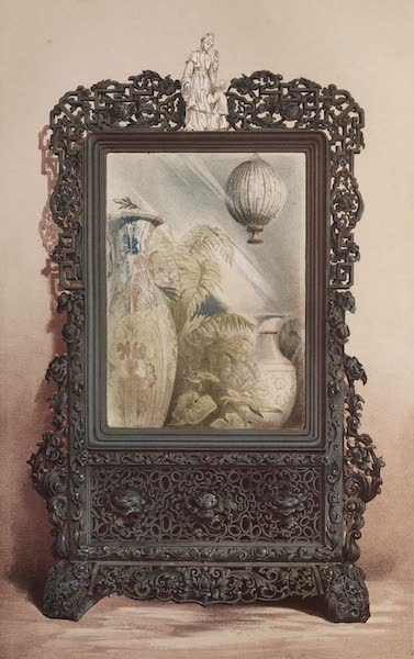 The Industrial Arts of the Nineteenth Century Vol. 1 - Chinese Looking-glass in carved Wood Frame (1851)