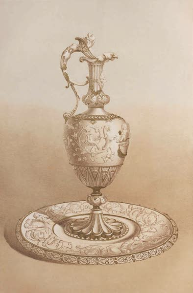 The Industrial Arts of the Nineteenth Century Vol. 1 - Renaissance Vase and Dish in Parian, Minton, Stoke-upon-Trent (1851)