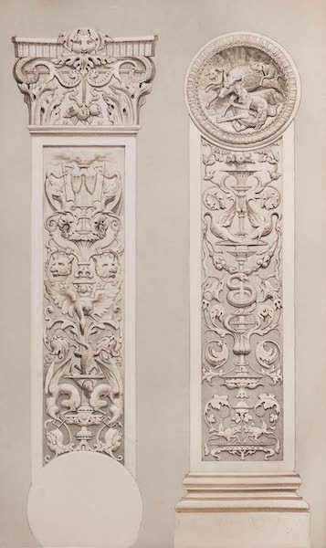 The Industrial Arts of the Nineteenth Century Vol. 1 - Pilaster in Carton-pierre by Cruchet, Paris (1851)