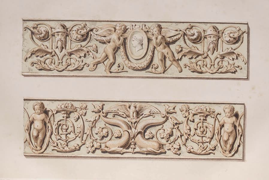 The Industrial Arts of the Nineteenth Century Vol. 1 - Luca della Robbia Friezes by Minton, Stoke-upon-Trent (1851)