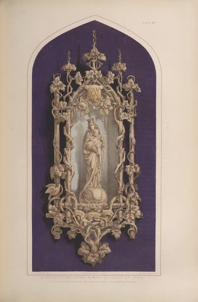 The Industrial Arts of the Nineteenth Century Vol. 1 - Niche and Figure, carved in wood by Knecht, Paris (1851)