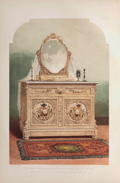 The Industrial Arts of the Nineteenth Century Vol. 1 - Bedroom Furniture, in marquetry by Trollope, London (1851)
