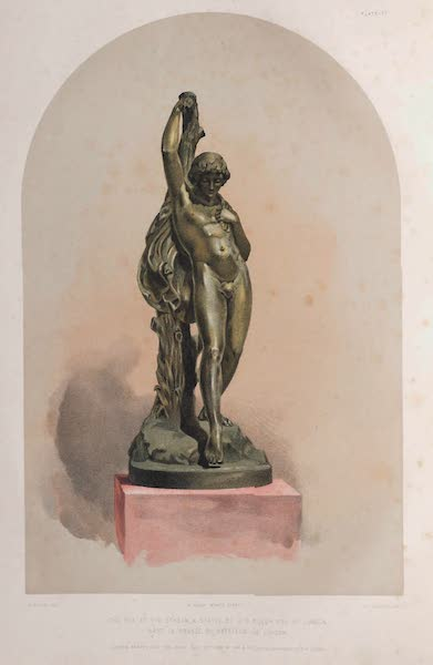 The Industrial Arts of the Nineteenth Century Vol. 1 - A Youth at a Stream by Foley, A.R.A. Cast in bronze by Hatfield (1851)