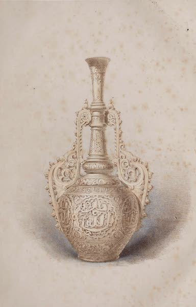 The Industrial Arts of the Nineteenth Century Vol. 1 - Vase in White China by Jouhanneaud & Dubois, Paris (1851)