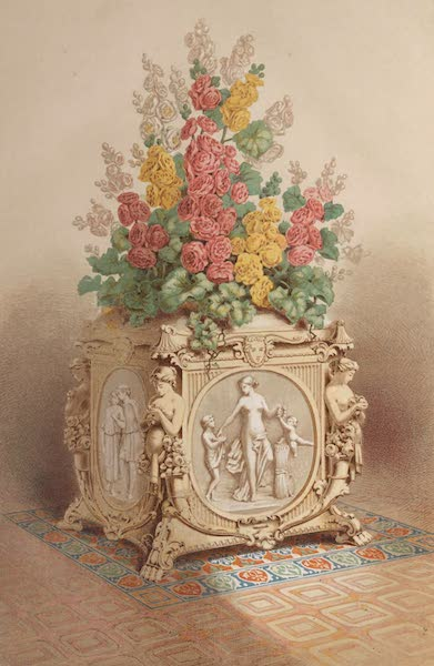 The Industrial Arts of the Nineteenth Century Vol. 2 - Flower-stand by Minton, Stoke-upon-Trent. Modelled by the Baron Marochetti. (1851)