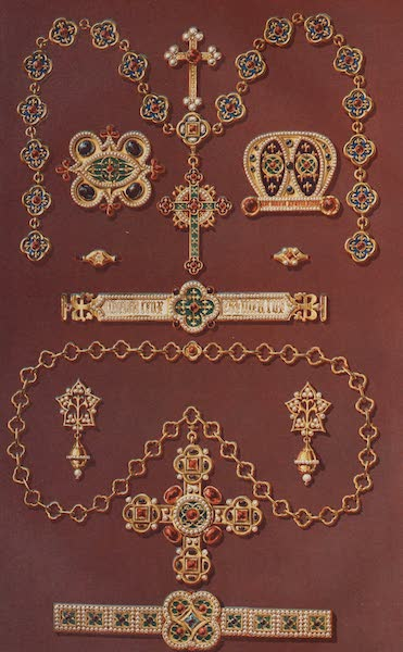The Industrial Arts of the Nineteenth Century Vol. 2 - Jewellery in the Mediaeval Style by Hardman, Birmingham. Designed by Pugin. (1851)