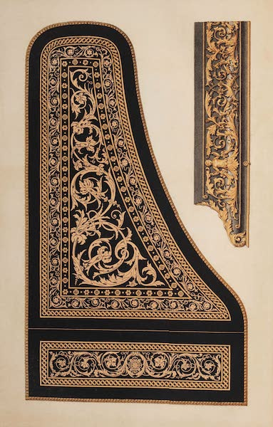 The Industrial Arts of the Nineteenth Century Vol. 2 - Marquetry Enrichments of a Pianoforte by Broadwood, London (1851)