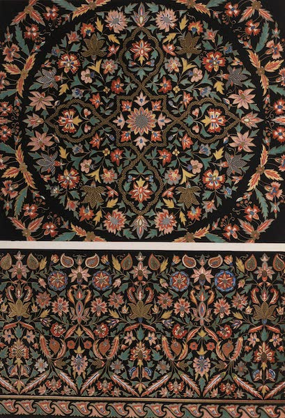 The Industrial Arts of the Nineteenth Century Vol. 2 - Embroidery, on black cloth (1851)