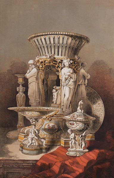 The Industrial Arts of the Nineteenth Century Vol. 2 - Objects from a Dessert Service presented by her Majesty the Queen to the Emperor of Austria by Minton, Stoke-upon-Trent (1851)