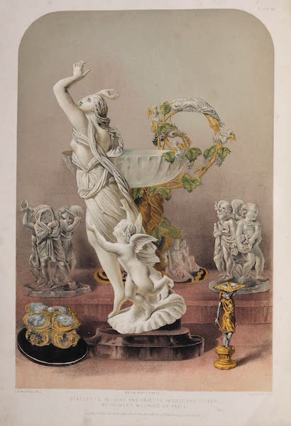 The Industrial Arts of the Nineteenth Century Vol. 2 - Statuette in Ivory and Objects in Gold and Silver by Froment-Meurice, Paris (1851)