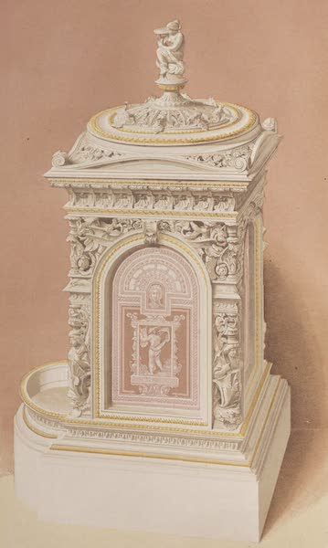 The Industrial Arts of the Nineteenth Century Vol. 2 - Stove by Hoole, Robson, & Hoole, Sheffield. Designed by A. Stevens. (1851)