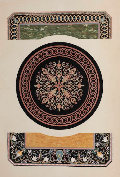The Industrial Arts of the Nineteenth Century Vol. 2 - Florentine Mosaic by Woodruff, Bakewell | Enamelled Slate by Magnus, Pimlico (1851)