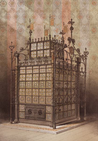 The Industrial Arts of the Nineteenth Century Vol. 2 - Stove, in the Mediaeval Style by Hardman, Birmingham. Designed by Pugin. (1851)