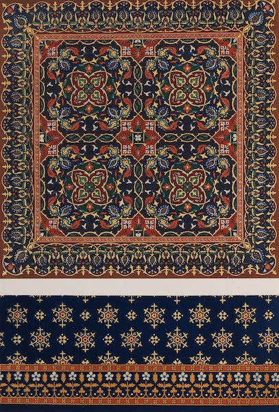 The Industrial Arts of the Nineteenth Century Vol. 2 - Carpet, in the Mediaeval Style by Crace, London. Designed by Pugin. (1851)