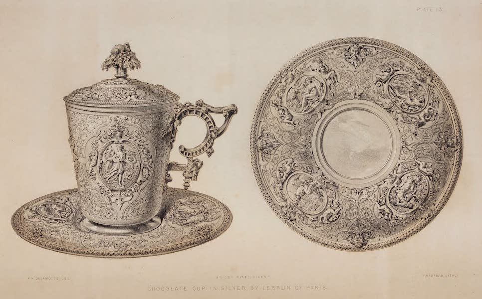 The Industrial Arts of the Nineteenth Century Vol. 2 - Chocolate Cup in Silver by Lebrun, Paris (1851)