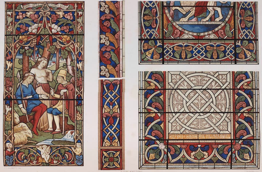 The Industrial Arts of the Nineteenth Century Vol. 2 - Specimens of Stained Glass by Lusson, and Gerente, Paris (1851)