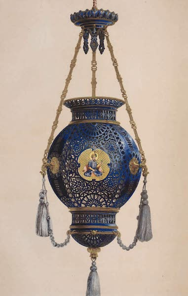The Industrial Arts of the Nineteenth Century Vol. 2 - Pendant Lamp in Porcelain by the Royal Manufactory, Sevres (1851)