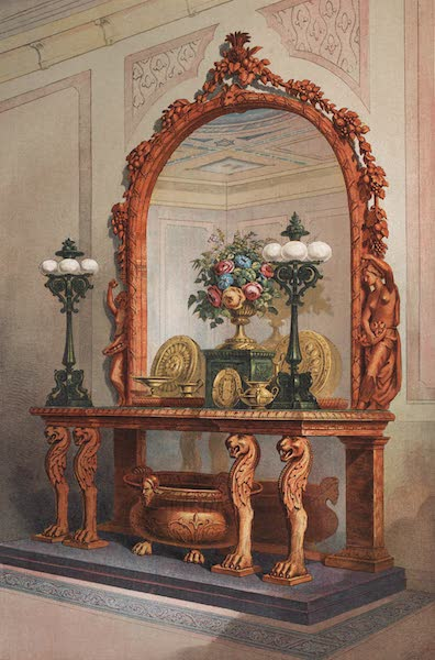 The Industrial Arts of the Nineteenth Century Vol. 2 - Sideboard and Furniture by Snell, London. Designed by the Baron Marochetti. (1851)