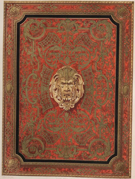 The Industrial Arts of the Nineteenth Century Vol. 2 - Panel, ornamented with Buhl by Fourdinois, Paris (1851)