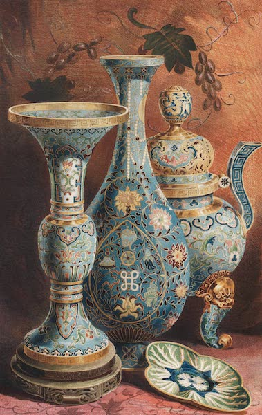 The Industrial Arts of the Nineteenth Century Vol. 2 - Group of Chinese Enamels (1851)