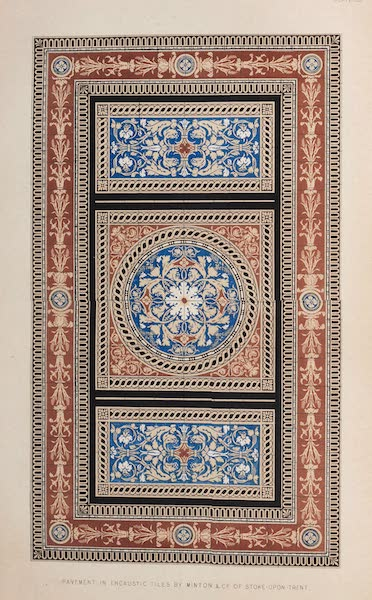 The Industrial Arts of the Nineteenth Century Vol. 2 - Pavement in Encaustic Tiles by Minton, Stoke-upon-Trent (1851)