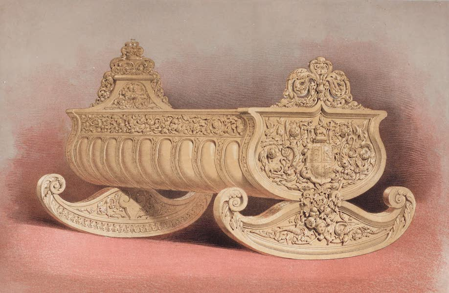 The Industrial Arts of the Nineteenth Century Vol. 2 - Cradle, carved in boxwood by Rogers, London, for her Majesty the Queen (1851)