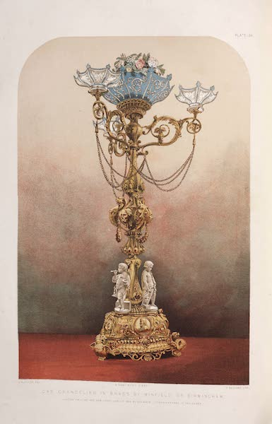 The Industrial Arts of the Nineteenth Century Vol. 2 - Standard Lamp by Winfield, Birmingham (1851)