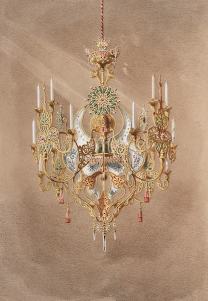 The Industrial Arts of the Nineteenth Century Vol. 2 - Pendant Lamp by Matifat, Paris (1851)