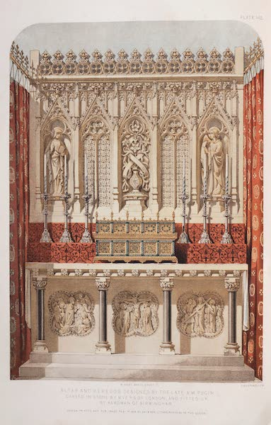 The Industrial Arts of the Nineteenth Century Vol. 2 - Altar and Reredos by Myers, London, and Hardman, Birmingham. Designed by Pugin. (1851)
