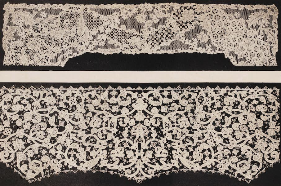 The Industrial Arts of the Nineteenth Century Vol. 2 - Specimen of Lace by Miss Jane Clarke, London (1851)