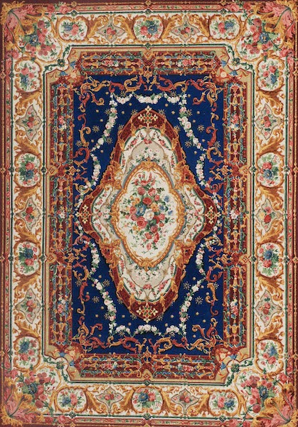 The Industrial Arts of the Nineteenth Century Vol. 2 - Axminster Carpet by Watson, Bell, and Co., London (1851)