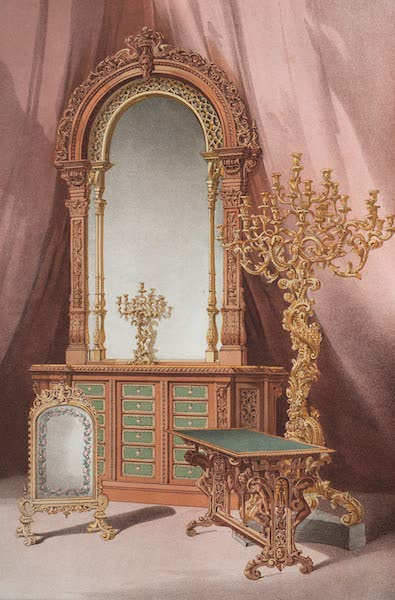 The Industrial Arts of the Nineteenth Century Vol. 2 - Group of Furniture by Snell, London (1851)