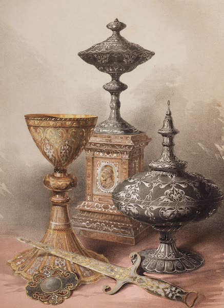 The Industrial Arts of the Nineteenth Century Vol. 2 - Group of Objects by Falloise, Liege (1851)