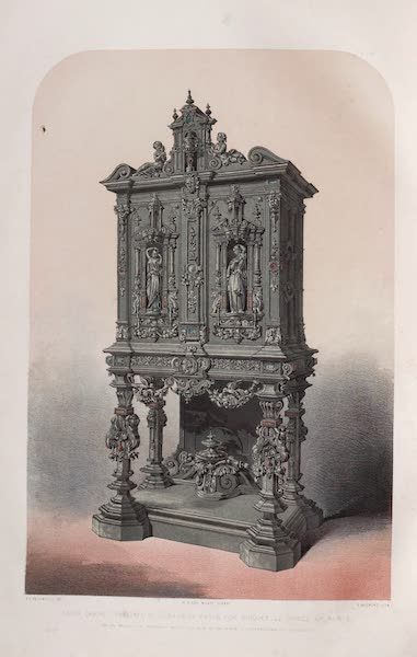 The Industrial Arts of the Nineteenth Century Vol. 2 - Cabinet in Ebony by Lienard, Paris (1851)