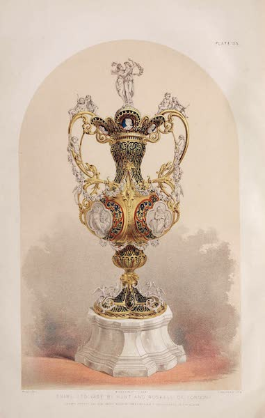 The Industrial Arts of the Nineteenth Century Vol. 2 - Vase by Hunt and Roskell, London (1851)