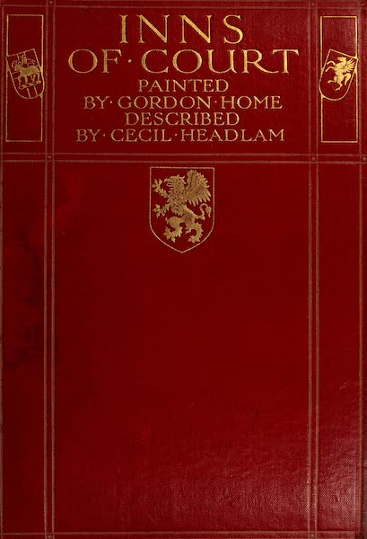 The Inns of Court Painted and Described - Front Cover (1909)
