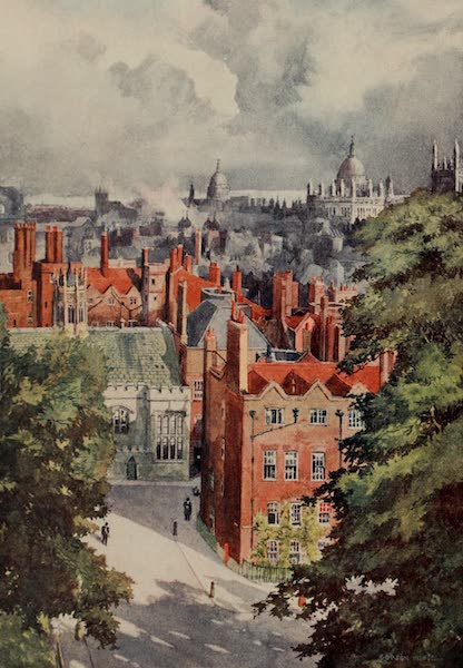 The Inns of Court Painted and Described - Old Hall and Old Square from the Tower of the New Hall, Lincoln's Inn (1909)
