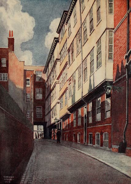 The Inns of Court Painted and Described - Middle Temple Lane (1909)