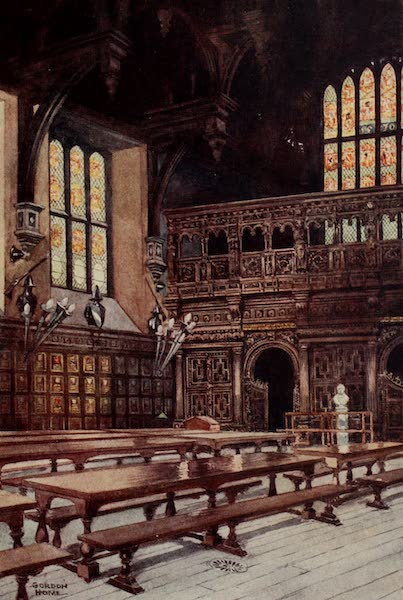 The Inns of Court Painted and Described - Interior of the Middle Temple Hall (1909)