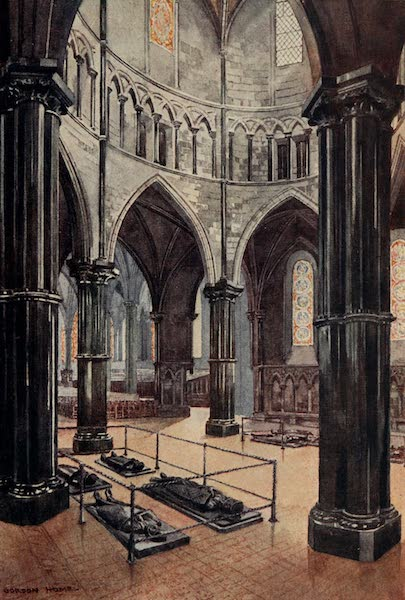 The Inns of Court Painted and Described - Interior of the Temple Church (1909)