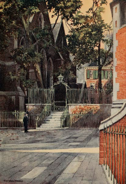 The Inns of Court Painted and Described - The East End of the Temple Church and the Master's House (1909)