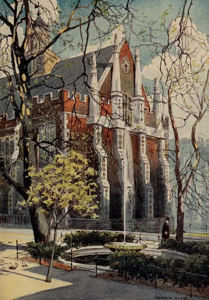 The Inns of Court Painted and Described - Fountain Court and Middle Temple Hall (1909)